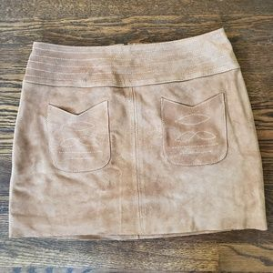 NWT Free People Suede Leather Modern Love Skirt